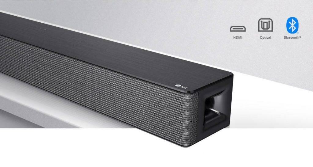 LG Soundbar with a Subwoofer