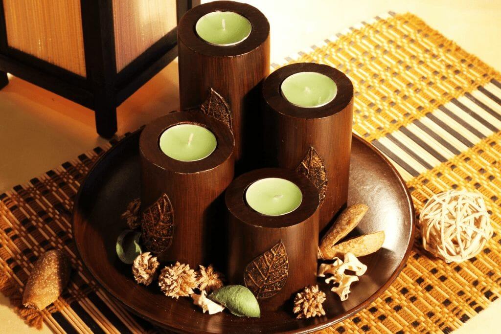 rustic candle design