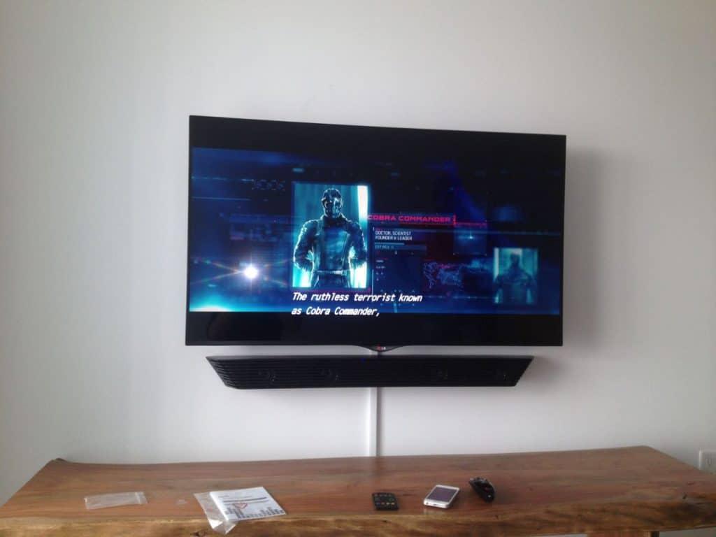 Below The TV